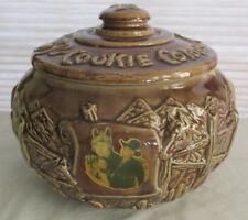 1950s HOPALONG CASSIDY Cookie Jar Corral Cowboy w Lid Nice Original Old