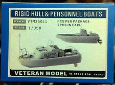 Veteran 1/350 Rigid Hull & Personnel Boats resin
