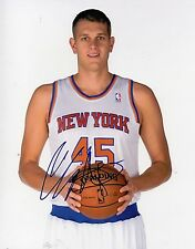 Cole Aldrich New York Knicks Signed Autographed 8x10 Photo w/ LOM COA (PH2891)