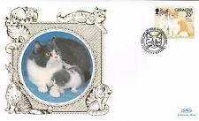 (01612) Gibraltar Benham FDC Cats - 12 February 1997