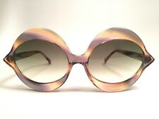 244ab77657 VINTAGE PIERRE CARDIN KISS MULTICOLOR FRANCE GREEN LENS MEDIUM SUNGLASSES