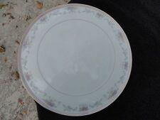 Christopher Stuart Spring Crest Gold Trim Floral Rim White Bone-China Platter