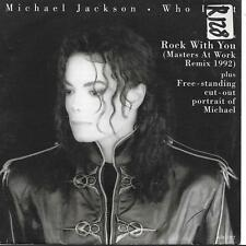 """Michael Jackson Who Is It NO cut-out 45 7"""" Rock With You (Masters At Work Remix)"""
