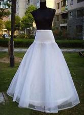 Lycra WAIST 1 HOOP A-Line Petticoat Wedding Bridal UNDERSKIRT CRINOLINE S-XL