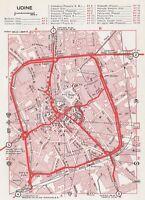 C2700 Pianta della Città di Udine - Mappa geografica d'epoca - 1967 vintage map