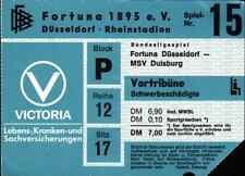 Ticket BL 80/81 Fortuna Düsseldorf - MSV Duisburg