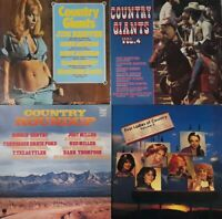 Job Lot/Bundle Of 4 Country Compilation Vinyl LPs.Tammy Wynette/Jim Reeves+