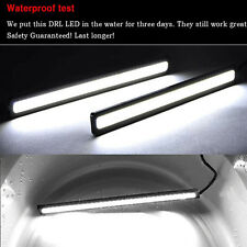 2 x Waterproof LED 12V Strip Daytime Running Light DRL Car Fog Day Driving Lamp