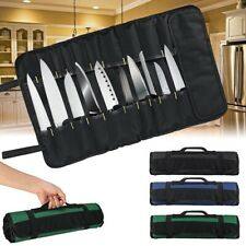 Chef Knife Bag Roll Carry Kitchen Restaurant Cooking Knife Storage Case US Stock