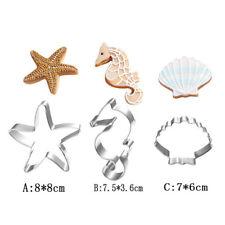 shell starfish hippocampus cookie cutter fondant cake sugarcraft mold decortoolH