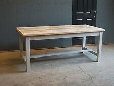 8FT DINING KITCHEN TABLE - RECLAIMED FARMHOUSE VINTAGE INDUSTRIAL TABLE