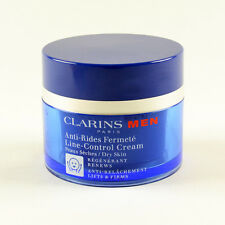 Clarins Men Line-Control Cream For Dry Skin Lifts & Firms - Size 50mL / 1.7 Oz.