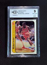 1986 Fleer Sticker Michael Jordan ROOKIE RC Card BCCG 9