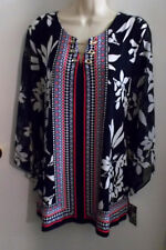 WOMENS TUNIC TOP SIZE XL JM COLLECTION MULTI COLOR EMBELLISHED NEWw/TAGS