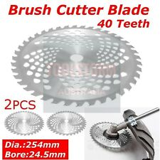 2x NEW Carbide Tipped 40 Tooth Brush Cutter Blade Whipper Snipper Brushcutter