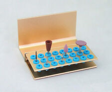 2pc 24holes Dental FG HP Burs Disinfection Autoclave Holder Bur Block Stand
