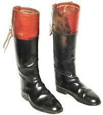 GREAT VINTAGE CUSTOM FULL RIDING BOOTS BROWN 45 EU 11 UK E MADE IN UK
