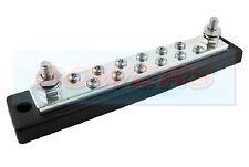 12V/24V Barra de bus de 12 vías de distribución de alimentación 12 X 4mm Tornillos 250A clasificado Auto Marine