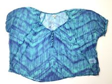 Ecote Urban Outfitters Womens Size S Blue Sheer Top Blouse Lightweight Cover Up