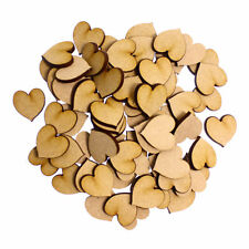 50 x Wooden Laser Cut MDF shapes Craft Blank Embellishments - Hearts 20mm