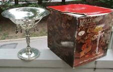 NIB Godinger Silverplate Museum Reproduction Grape Compote Tazza
