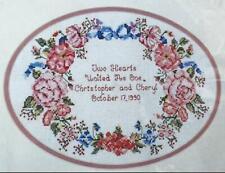 Vintage 1992 Anniversary Wreath Cross Stitch Picture Kit 02605 Needle Treasures