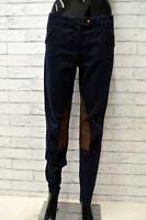 Pantalone TRUSSARDI JEANS Donna Taglia 44 Pants Woman Cotone Blu Slim Skinny Fit