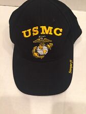 United States Marine Corps BLACK Adjustable Embroidered Hat SEMPER FI