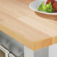 Solid Wood Prime Beech Timber Worktops and Breakfast Bars, Variety of Sizes