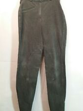 "ADULT 24""W 27""L GREY COTTON MIX TACK SHOP OUTDOOR RIDING JODHPURS -  UK 8"