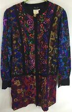Vintage Diane Freis Original Women's Formal Beaded Multi-colored Jacket Sz M