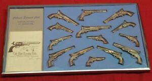 Colt Firearms Colonel Samuel Colt Pewter Pistols in Miniature