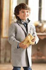 Appaman Awesome Boys City Coat Sz 12 Jacket Stone Light Heather Gray Wool Blend