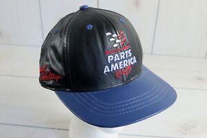 Vintage 90s Jeff Hamilton Darrell Waltrip Western Auto Parts Racing Leather Hat