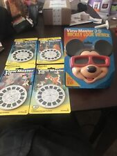 View-master 3-D Mickey Look Viewer And 4 New Reels Disney Bambi Peter And More