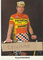 Carte de Rudy DHAENENS 1985