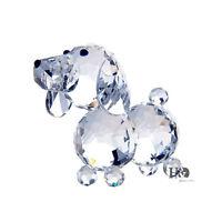 Crystal Glass Dog Animal Figurine Paperweight Wedding Ornaments Gift Xmas Decor