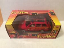 Burago Range Rover Fire Man Airport Fire Service 1/25 New
