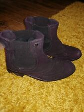 Superdry Ankle Boots / Chelsea Boots Size 4 Winter boots Suede Black / Plum