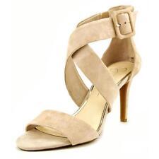 Calzado de mujer sandalias con tiras de color principal crema de ante