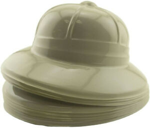 12 Safari Party Hat jungle zoo favor play costume pith helmet child toy daycare