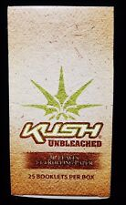 Full Box 25 Packs KUSH UNBLEACHED 1 1/4 Cigarette Rolling Papers 50 Per Pack