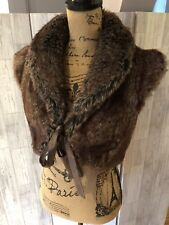 Monsoon Faux Fur Tie Fronted Short Shrug Sz10/38