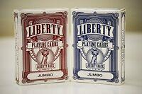 Liberty Back Jumbo Index Playing Cards Set of 12 Decks brand new sealed