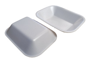 White Polystyrene C2 Food Tray 178x133x38mm