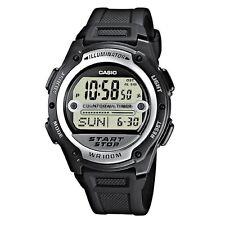 Casio Black Digital Watch Referee Sport Twin Stopwatch World Time 100m W756-1AV