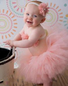 Newborn Baby Girl Tutu Skirt Dress Breast Wrap Headband Photography Props Studio