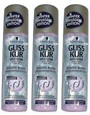 (1,45€/100ml) 3x Gliss Kur Express-Repair-Spülung Winter Repair 3x200 ml=600ml