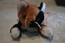Rare Ty Beanie Baby Chip the Cat Tag Error Mwmt