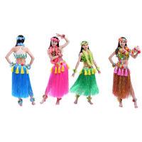 80CM Hawaiian Grass Skirts Hula Skirt Ladies Dress Festive Party Plastics Fibers